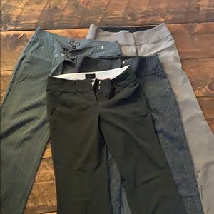 Group of woman's business pants, wider leg styles